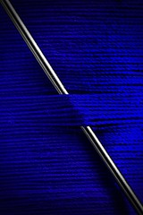 Needle and Thread (andycurrey2) Tags: colour smileonsaturday bluetiful cotton thread macro blue closeup needle abstract indoor tabletop macrodreams