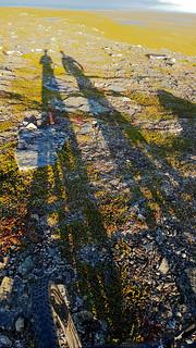 Bikefriends, two long shadows