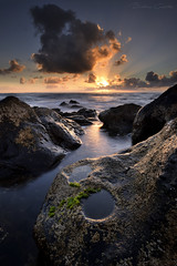 The spirit of the rock cries at sunset (Beatriz-c) Tags: sunset atardecer nubes clouds sea ocean mar oceano rocks rocas water agua sheashore spirit spiritu sun sol horizon horizonte canary islands islas canarias travel traveling adventure viaje aventura viajar paisaje landscape