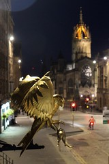 IMG_8116.CR2 (TheRougePhotographer) Tags: golden owl mouse spire night edinburgh royal mile wideanglelens canon 1300d scotland old town