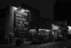 I decided... to have a food truck! (inakicia) Tags: ny night nocturna urbana urban bw bn williansburg brooklyn foodtruck
