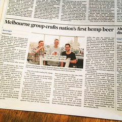 East 9th Brewing in the Financial Review (benjaminbcairns) Tags: beer craft lager ale ipa hemp melbourne australia innovation east 9th brewing benjamin cairns josh lefers stephen wools fmcg brewers brew financial review fairfax newspaper press pr