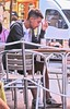 At cafe in Cinque Terre (JasChamPhoto) Tags: italy cinqueterre man male dude guy smoker smoking cafe breakfast meal candid portrait street beard