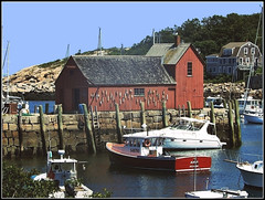 Rockport Harbor - Photo by STEVEN CHATEAUNEUF August 3, 2017 - Photo Was Edited On August 6, 2017 (snc145) Tags: boats harbor beach water sea ocean rockport summer seasons vacation outdoor photo barn architecture stonewall house trees sky editedimage august32017 august62017 stevenchateauneuf 548795 thebestshot flickrunitedaward