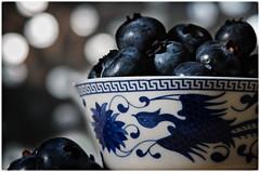 blueberries (sure2talk) Tags: macromondays stayinghealthy blueberries fruit chineseteatastingbowl bokeh shallowdof hmm nikond7000 nikkor85mmf35gafsedvrmicro