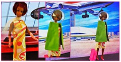 FLYING HIGH (Part Two) (ModBarbieLover) Tags: mod christie fashion doll pucci print groovy 1960s tnt air hostess flying airport spaceage