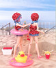 Cami & Rebi At The Beach (MurderWithMirrors) Tags: ruruko doll petworks camisole komorebi beach rubberduck tube mwm