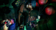 Even While We Sleep (Jinx Jinx) Tags: jinx jinxjinx fourthwall willcorrigan tmd limit8 l8 mancave themensdepartment clown ahs balloon creepy mask gasmask arise versov famefemme cx cerberusxing bolsom tattoo dark photoshop ps fantasy horror americanhorrorstory spartinparxposes spp modulus