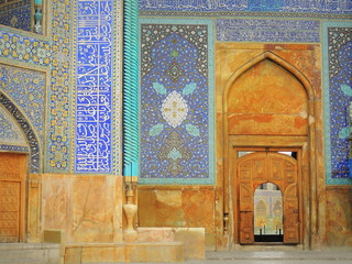 Mosque gate Islamic art masterpiece - Imam mosque, Isfahan, Iran