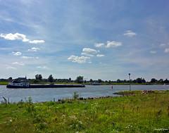 Landscape River  Ijssel (JaapCom) Tags: jaapcom landscape ijssel water clouds holland naturel boat revier boot