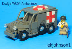 Dodge WC54 (ekjohnson1) Tags: lego moc ambulance dodge wc54 wwii world war two medic army germany france holland belgium western front band brothers
