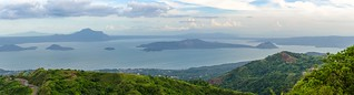 Taal Lake panoramic view
