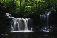 R.B. Ricketts Falls (wilbias) Tags: park summer usa green waterfall falls kitchen stream flow state pennsylvania rapids b creek r cascading glen ricketts