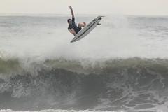 Surfer at Atlantic City, New Jersey - 8/16/17