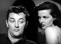 """Robert Mitchum and Jane Russell in """"His Kind of Woman"""" (1951) (stalnakerjack) Tags: robertmitchum hollywood janerussell hiskindofwoman"""
