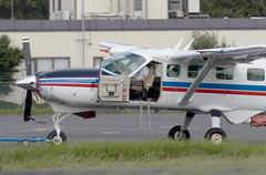 A SMALL AIRPORT, SOME PARKS AND CLOUDS - CVII (Jussi Salmiakkinen (JUNJI SUDA)) Tags: chofu tokyo japan cityscape park airport sky aircraft wood airplane landscape tama 調布 飛行場 空港 林 森 空 武蔵野 多摩 東京 日本 風景 august clouds summer 2016 cessna