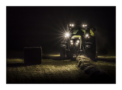 Monsters in the Night II (Vemsteroo) Tags: farmer farming france charente lucerne bales hay baling tractor agriculture machinery harvest evening night dark lights balesofhay lowlight canon 5d mkvi 100mm industry outdoors travel food