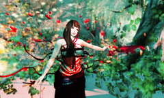 Fluttering red / 赤い瞬き (Sarasa Heart) Tags: