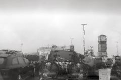 Arrival in the rain ... (Testlicht) Tags: rain ferry bw föhr dagebüll