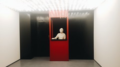 Ticket booth. (fresifantastica) Tags: art technology cinema film movies places red artgallery museum sculpture