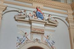 Wnętrze kościoła farnego w Kazimierzu Dolnym (jacekbia) Tags: europa polska poland kazimierzdolny kościół church religia religion wnętrze indoor zdobienia anioły angel