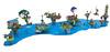 Wanderer's Islands (NeverEnoughLego) Tags: lego neverenoughlego fantasy island lighthouse tree technique water boat wanderer house landscape cottage ruin statue market