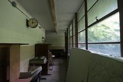 20170806-P1030873 (elocke) Tags: summer 2017 august westvirginia school abandoned ruin hallway