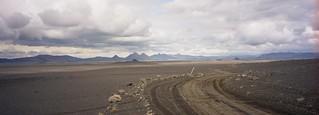 Icelandic desert on the Askja road
