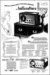Advertising For Hallicrafters Television Sets In The Chicago Tribune Newspaper, April 4, 1948 (France1978) Tags: vintagetelevision vintagehallicrafterst54television vintagetelevisions vintagehallicrafterspressboxtelevision