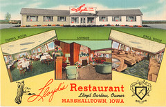 Lloyds Restaurant - 1950s (Brett Streutker) Tags: restaurant cafe diner eatery food hamburger cheeseburger eat fast macdonalds burger vintage colonel sanders kentucky fried chicken big mac boy french fries pizza ice cream server tip money cash out dining cafeteria court table coffee tea serving steak shake malt pork fresh served desert pie cake spoon fork plate cup drive through car stand hot dog mustard ketchup mayo bun bread counter soda jerk owner dine carry deliver lloyds 1950s