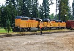 Way UP North (BravoDelta1999) Tags: unionpacific up railroad spokaneinternational si railway spokanesubdivision sandpoint idaho emd gp60 gp40m2 1483 1101 gp392 1202