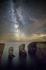 Elegug stacks - Pembrokeshire (karlmccarthy1969) Tags: rocks stacks milkyway stars night seascape sea water astro astrophotography long exposure sky nature