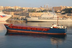 NS MERMAID entering Valletta, Malta - 01.06.2017 - www.maltashipphotos.com (Malta Ship Photos & Action Photos) Tags: sea malta ship valletta cargo general panama flag scrap iron loading albanian owned