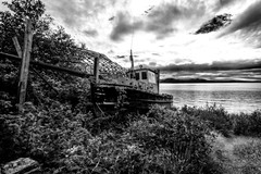 Forgotten Warrior (Chatham Sound) Tags: malcolm island fishing fishboats fisheries canada britishcolumbia vancouverisland sointula nikond810 sigma20mmf14artlens monochrome