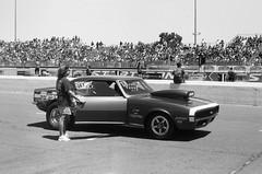Drag Race Camaro (larsupreme) Tags: kentmere100 blackwhite asahi 35mm k1000 pentax film