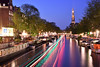 DSC_2231 (Sean Yang_4491) Tags: 荷蘭 nederland nikon d610 阿姆斯特丹 amsterdam canal westerkerk night evening dusk boats boattracks lighttracks