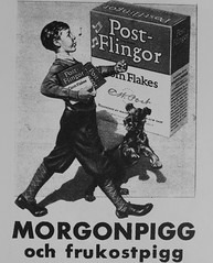 Annons (Ken-Zan) Tags: cornflakes postflingor morgonpigg ljunghav scanned kenzan boy annons dog hund