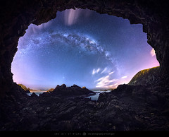 The Cave (The Art of Night) Tags: sky landscape stars mountain valley long exposure peak moun summit milky way astrophotography montain sea clouds alpenglow mordor lenticular mountainscape ceahlau starscape mark gee wellington new zealand theartofnight nzmustdo canon6dmkii