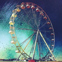 DSC04435-06 (suzyhazelwood) Tags: ferris wheel fairground rides yarmouth norfolk uk photoart art texture textures summer creativecommons sony a6000