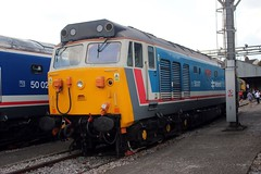 50017 Old Oak Common 2nd September 2017  E1880 (focus- transport) Tags: trains old oak common open day classes 31 47 50 57 180 800 d british railways br oliver cromwell tornado colas gbfr gbrf gwr hst rail operations group railcar diesel steam great western railway high speed train gb freight