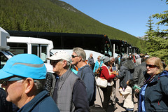 Lots of tourists (Canadian Pacific) Tags: banff alberta canada canadian national park town mountain mountains rockies rocky range gondola mount sulphur tourist tourists 2017aimg9907