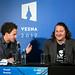 """Toni Cahunek, moderator in Bojan Mastilović, slovenski producent filma MOŠKI NE JOČEJO, Alena Drljevića. • <a style=""""font-size:0.8em;"""" href=""""http://www.flickr.com/photos/151251060@N05/37052451202/"""" target=""""_blank"""">View on Flickr</a>"""
