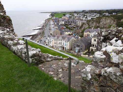 Criccieth from the castle wall.