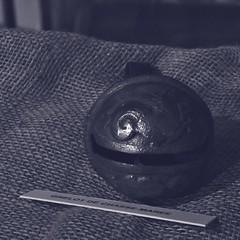 10 - Dieppe, Estran-Cité de la mer - Grelot de chasse-marée (melina1965) Tags: normandie seinemaritime août august 2017 nikon d80 noiretblanc blackandwhite bw dieppe fer iron ferronnerie ironwork ironworks