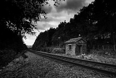 The Hut (tiggerpics2010) Tags: railwayhut railroad tracks scotland highlands scottish