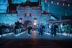 Tattoo 2nd Visit-30 (Philip Gillespie) Tags: 2017 edinburgh international military tattoo splash tartan scotland city castle canon 5dsr crowds people boys girls men women dancing music display pipes bagpipes drums fireworks costumes color colour flags crowd lighting esplanade mass smoke steam ramparts young old cityscape night sky clouds yellow blue oarange purple red green lights guns helicopter band orchestra singers rain umbrella shadows army navy raf airmen sailors soldiers india france australia battle reflections japan fire flames celtic clans