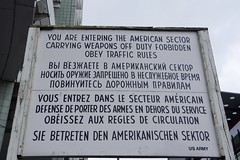 The Sign facing the East German side of the Border (Dave Hamster) Tags: berlin germany berlinwall wall checkpointcharlie checkpoint border bordercrossing sign