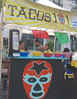 Mexican Combo. Tacos and Wrestling Gear (stephenweir) Tags: luchalibre wrestlingoutfits mexicanwrestling tacosandmexicanwrestling marketmexico toronto vancouver music authenticmexicanfood dundassquare saturdayafternoon