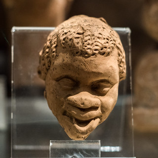 Terracotta head of an African