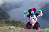 _MG_4487 (Kyoto Fox) Tags: flow prekestolen preikestolen stavanger rogaland forsand norway norge pulpit rock pulpitrock fursuit collie flowcollie svc sunny valley creations sunnyvalleycreations hike trip lysefjorden fjord